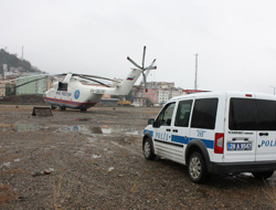 Polisin helikopter nöbeti