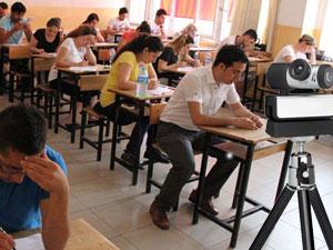 Trabzon'da sınavda kamera var