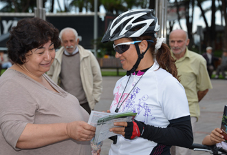 Bisikletçiler Ünye'de