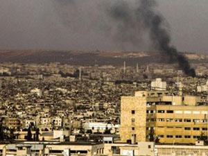 Suriye'nin başkenti Şam'da çatışma