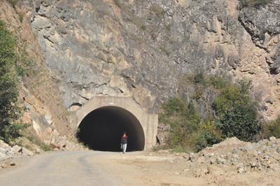 Trabzon'da korku tüneli