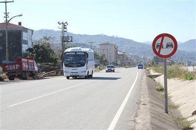 Trabzon'da ralli pisti gibi yol