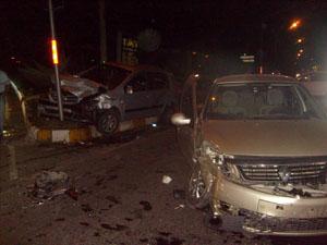 Trabzon'da otomobiller çarpıştı