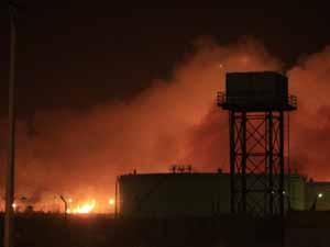 Askeri fabrikayı bombaladılar