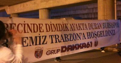 Trabzon'da Bursaspor'a karşılama