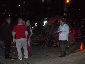 Trabzon'un Arsin ilçesinde Trafik kazası