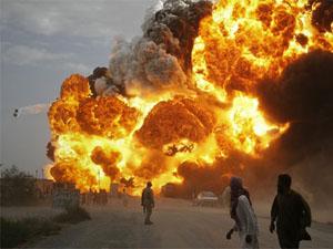 Sanayi bölgesinde patlama meydana geldi