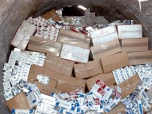 Kaçak sigara kartonlarından köpük çıktı