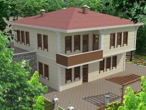 Trabzon'da Örnek köy evi projesi