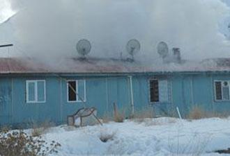 Erzurum Genelevinde korkutan yangın