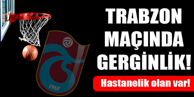 Trabzon maçında olay çıktı!