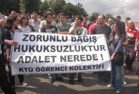 Zorla 'bağış'a YÖK'ten ceza: Kınama!