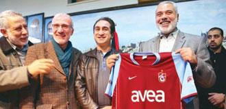 Filistin Başbakanı'na Trabzonspor forması