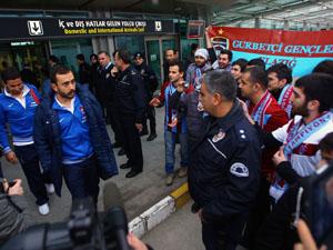Trabzonspor kafilesine görkemli karşılama