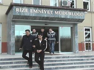 Okul hırsızları Rize'de yakalandı !