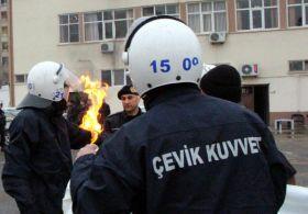Polise yanmaz kumaştan üniforma