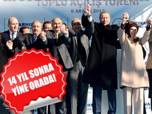 Başbakan Erdoğan 14 yıl sonra orada