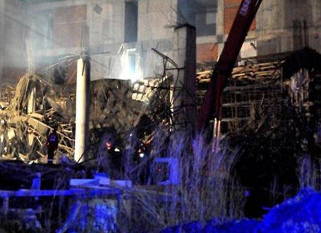 Yeni yapılan hastane inşaatı çöktü !