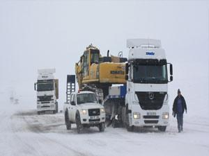 Kars'ta 134 köy yolu ulaşıma kapandı