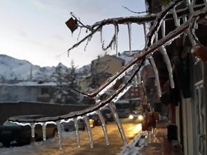 Gümüşhane buz tuttu