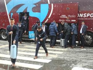 Trabzonspor Lazio maçı için İtalya'da