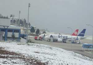 Trabzon'da kar hava trafiğini de aksattı