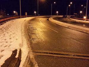 Trabzon'da buzlanma kazaya neden oldu!
