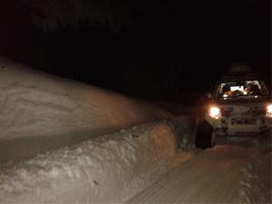 Kar paletli ambulans hayat kurtardı!