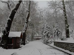 Giresun Kalesi'nde kış hüznü