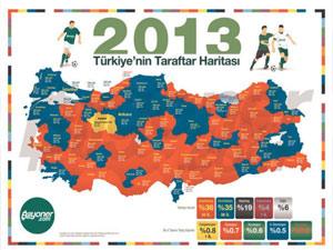 Türkiye'nin taraftar haritası!