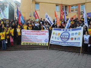 KESK'ten Trabzon'da bütçe eylemi