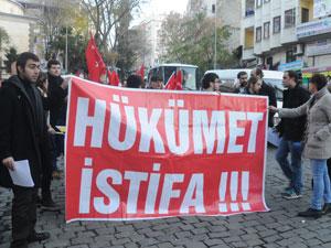 Trabzon'da hükümeti istifaya çağırdılar