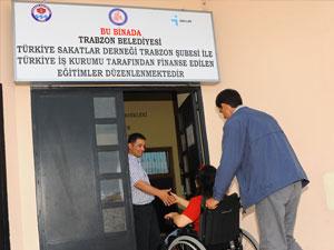 Trabzon'da engelli merkezi yoğun ilgi gördü