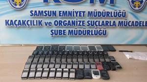 Samsun'da kaçak cep telefonu operasyonu