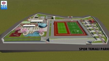 Trabzon'da spor temalı parkın yapımı sürüyor