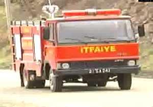 Trabzon'da iş yeri yangını