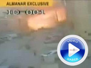 Bombalı araçla yapılan saldırı kamerada