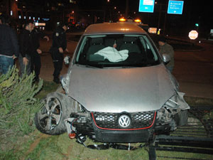 Giresun'da polis kaza yaptı!