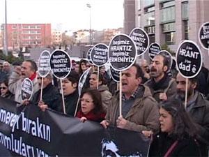 Hırant Dink Davası Öncesi mahkemede Eylem