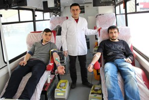 Kan bağışına ilgi büyük
