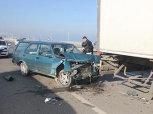 Fatsa'da zincirleme kaza:2 yaralı !