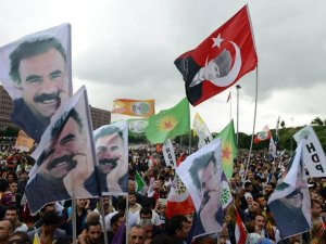 HDP kutlamasında olay fotoğraf!