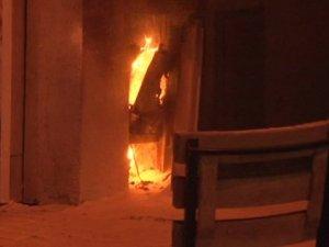 Başbakanlık Ofisi karşısında yangın