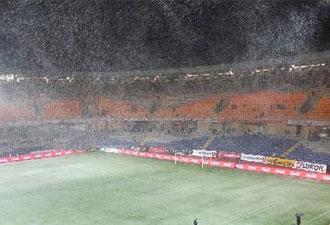Süper lig maçına kar engeli!