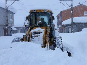 Trabzon'da kar için 50 kişilik 8 ekip çalışıyor!