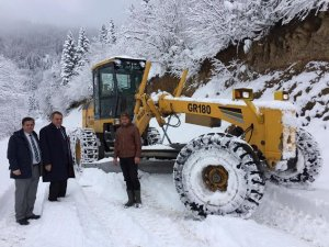 Yomra'da karla mücadele