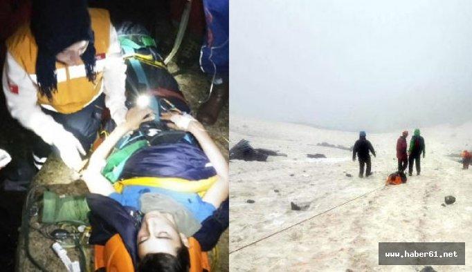 Kaçkar'da düşen dağçı 33 saat sonra kurtarıldı