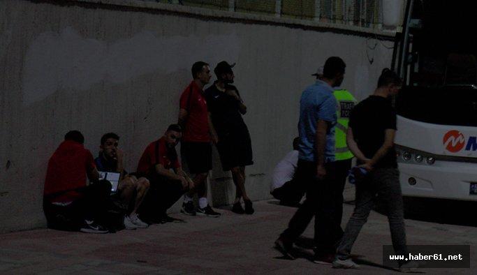 Gaziantep'te Trabzonspor'a otobüs şoku