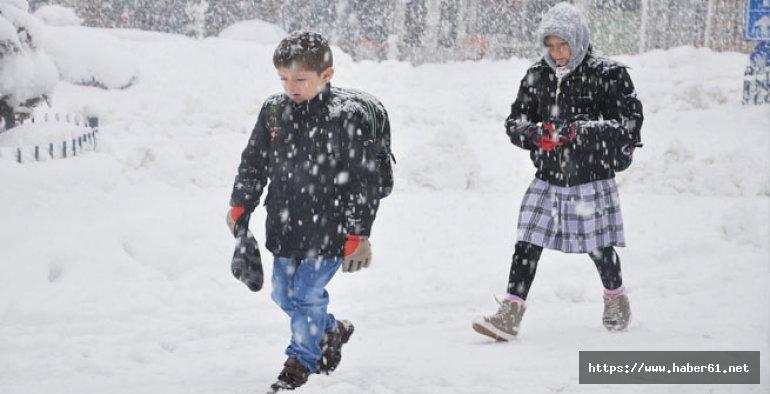 Giresun'da okullara kar tatili