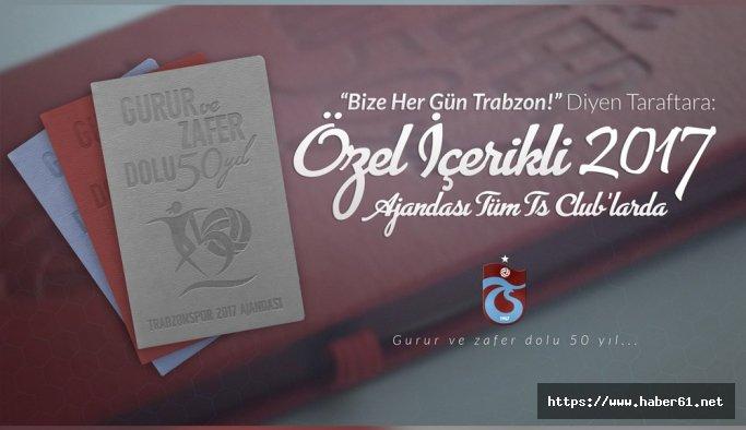 Trabzonspor'un 50. yıla özel 2017 ajandası satışta